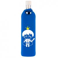 Glazen waterfles kinderen design knight