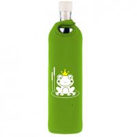 Glazen Waterfles Kinderen Neopreen Design Frog