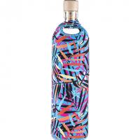 Flaska glazen waterfles Neopreen Disco Bamboe